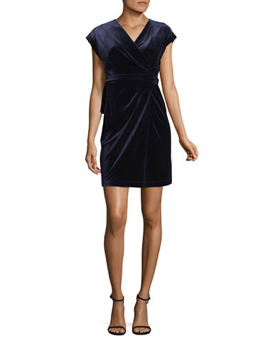 Tommy Hilfiger Velvet Wrap Dress-BLACK-10