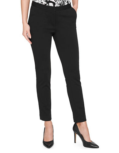 Tommy Hilfiger Newport Ankle Ponte Pants-BLACK-6