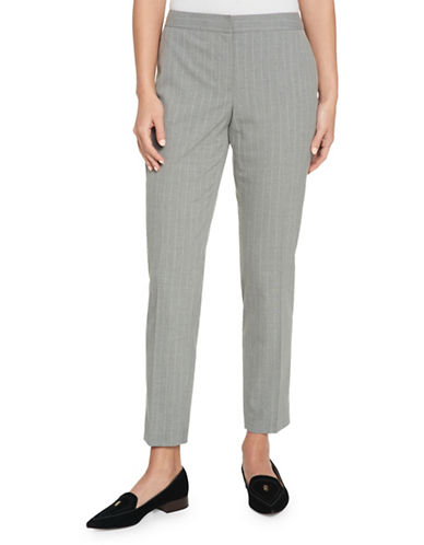 Tommy Hilfiger Pinstripe Ankle Pants-GREY-6