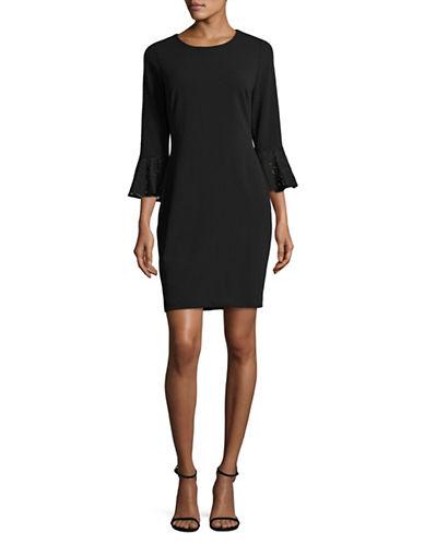 Tommy Hilfiger Lace Bell  Dress-BLACK-8