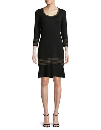 Tommy Hilfiger Hot Fix Sweater Dress-BLACK-Large