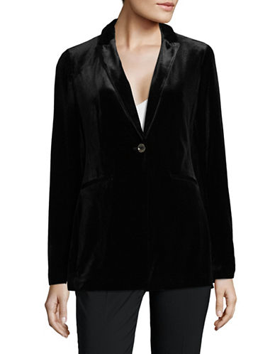 Tommy Hilfiger One Button Velvet Topper-BLACK-12
