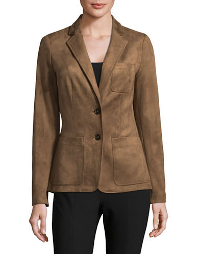 Tommy Hilfiger Suede-Look Blazer-BROWN-6