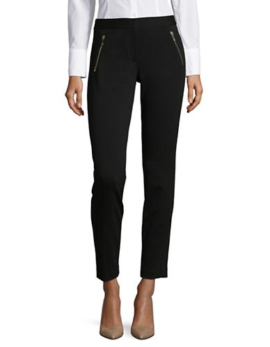 Tommy Hilfiger Zip Pocket Ponte Pants-BLACK-10