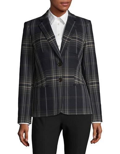 Tommy Hilfiger Slim-Fit Plaid Suit Jacket-BLUE-4