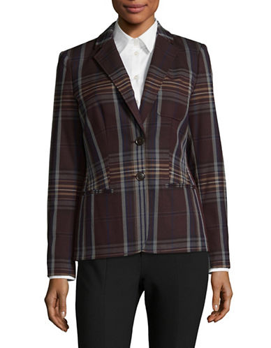 Tommy Hilfiger Plaid Two-Button Blazer-ASSORTED-6