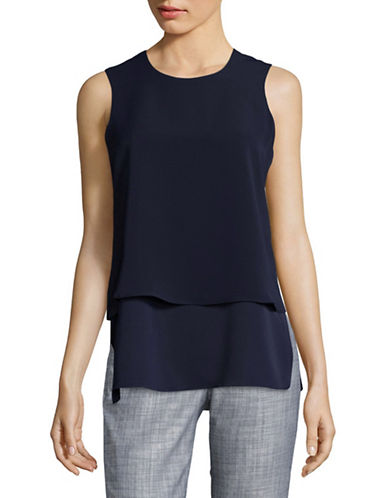 Tommy Hilfiger Double Layer Sleeveless Shirt-BLUE-Small