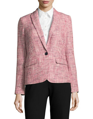 Tommy Hilfiger Tweed Single-Button Blazer-NAVY MULTI-6