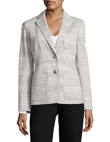 Tommy Hilfiger Two-Button Marled Blazer-LIGHT GREY/IVORY-4