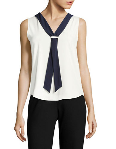 Tommy Hilfiger Nautical Shell Top-IVORY MIDNIGHT-Large