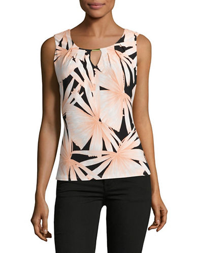 Tommy Hilfiger Floral Keyhole Top-MULTI-Small