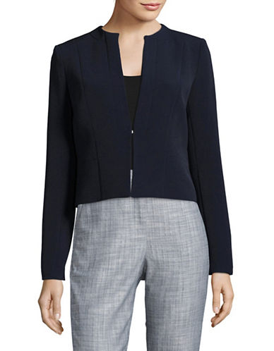 Tommy Hilfiger Woven Collarless Jacket-MIDNIGHT-12