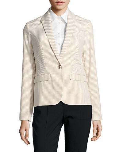 Tommy Hilfiger Tailored Striped Blazer-TAN-12