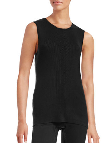 Tommy Hilfiger Chevron Placket Knit Tank-BLACK-X-Large 88830877_BLACK_X-Large