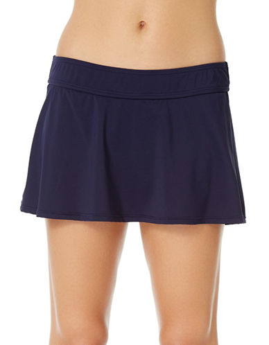 Anne Cole Live in Colour Swim Skirt-NAVY-Large