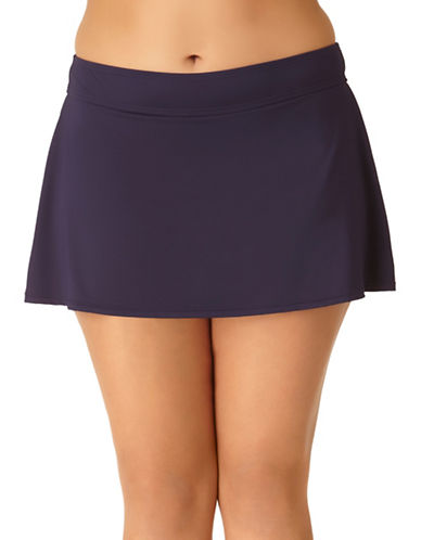 Anne Cole Classic Swim Skirt-NAVY-16W