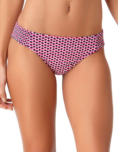 Anne Cole Smocked Side Swim Bottom-MULTICOLORED-X-Large