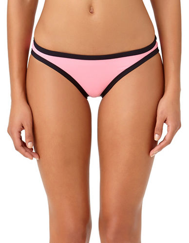 Anne Cole Beach Bound High Waist Swim Bottoms-PINK-Medium