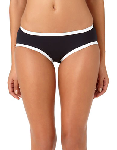 Anne Cole Boybrief Hipster Swim Bottoms-BLACK/WHITE-Large