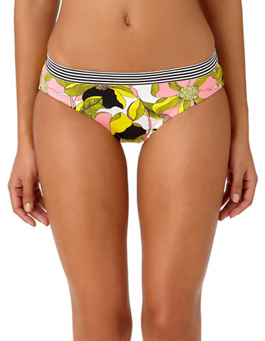 Anne Cole The Ringer Vintage-Print Swim Bottoms-YELLOW PRINT-Medium
