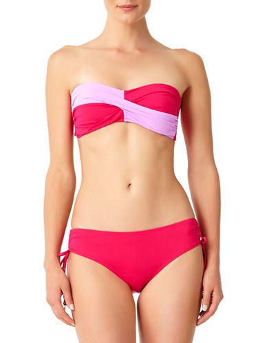 Anne Cole Twist Bandeau Bikini Top-PINK-Large 89937881_PINK_Large