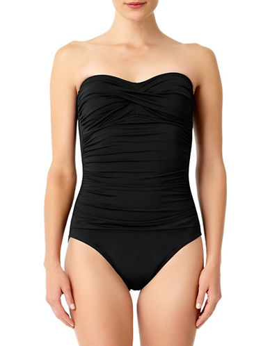 Anne Cole Shirred One-Piece Swimsuit-BLACK-6