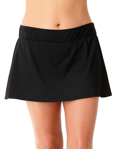 Anne Cole Classic Swim Skirt-BLACK-22W