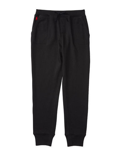 Ralph Lauren Childrenswear Atlantic Terry Fleece Jogger Pants-BLACK-Large 88659438_BLACK_Large