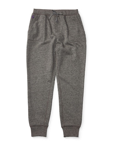 Ralph Lauren Childrenswear Atlantic Terry Fleece Jogger Pants-GREY-Large 88659442_GREY_Large