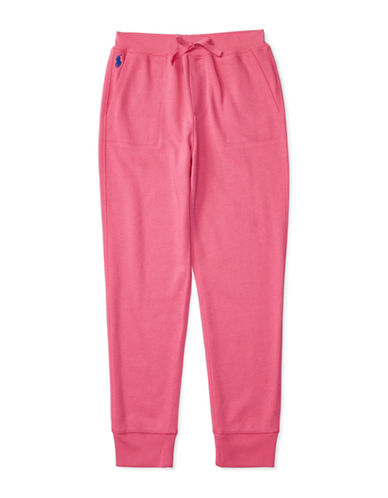 Ralph Lauren Childrenswear Terry Knit Sweatpants-PINK-Large 88659676_PINK_Large