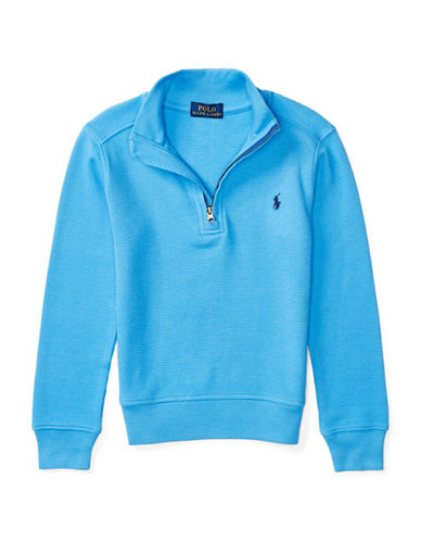 Ralph Lauren Childrenswear Mock Neck Pullover-BLUE-4T 88839852_BLUE_4T