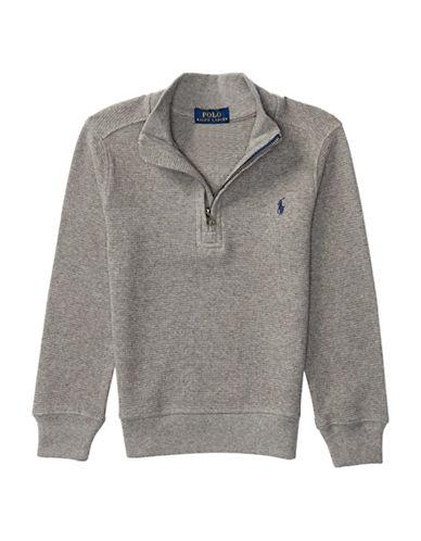 Ralph Lauren Childrenswear Mock Neck Pullover-GREY-4T 88839849_GREY_4T