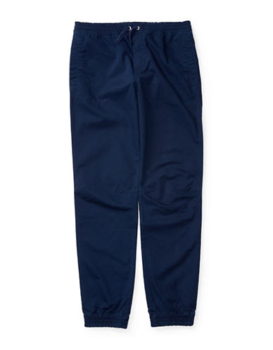 Ralph Lauren Childrenswear Broken Twill Jogger Pants-BLUE-Small 88840086_BLUE_Small