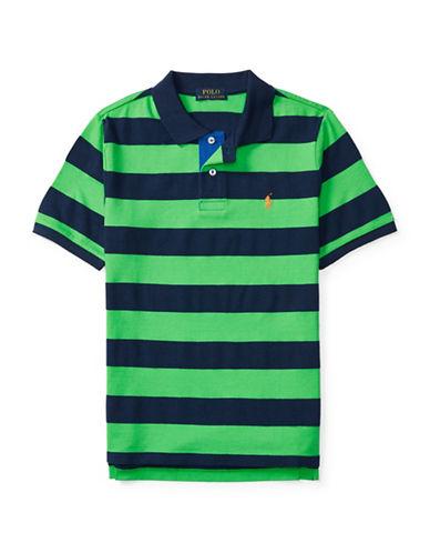 Ralph Lauren Childrenswear Mesh Striped Polo-GREEN-Medium 88840105_GREEN_Medium