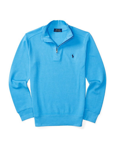 Ralph Lauren Childrenswear Waffle Knit Pullover-BLUE-Small 88840150_BLUE_Small