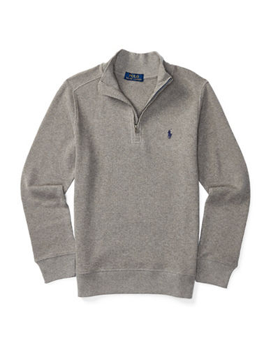 Ralph Lauren Childrenswear Waffle Knit Pullover-GREY-Small 88840146_GREY_Small