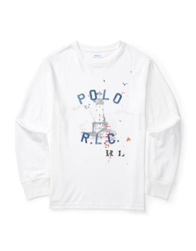 Ralph Lauren Childrenswear Graphic  Jersey Tee-WHITE-Large 88840152_WHITE_Large