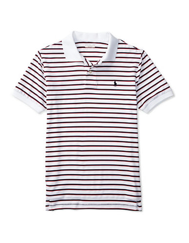 Polo Sport Performance Striped Polo-WHITE-Small 88792931_WHITE_Small