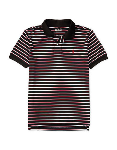 Polo Sport Performance Striped Polo-BLACK-X-Large 88792936_BLACK_X-Large
