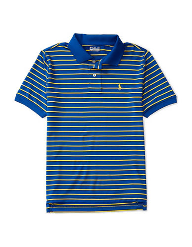 Polo Sport Performance Striped Polo-BLUE-X-Large 88792940_BLUE_X-Large