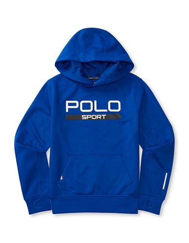 Polo Sport Tech Poly Fleece Knit Hoodie-BLUE-Small 88792910_BLUE_Small