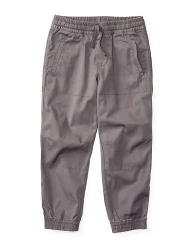 Ralph Lauren Childrenswear Canvas Joggers-GREY-7 88934109_GREY_7