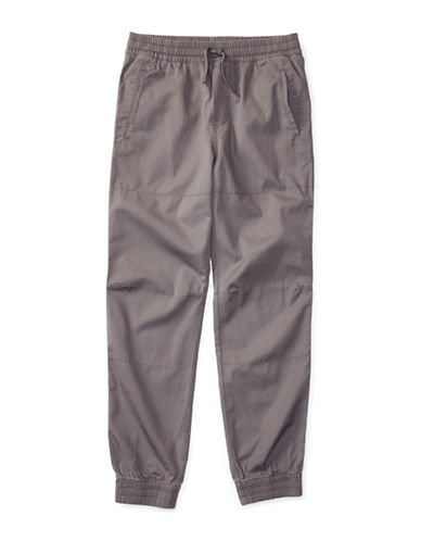 Ralph Lauren Childrenswear Canvas Joggers-GREY-Medium 88933768_GREY_Medium
