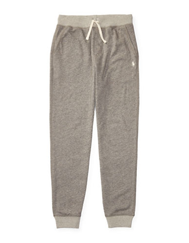 Ralph Lauren Childrenswear Atlantic Terry Sweatpants with Pockets-GREY-Small 88888391_GREY_Small