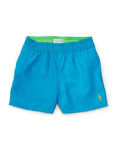 Ralph Lauren Childrenswear Twill Swim Trunks-BLUE-18 Months