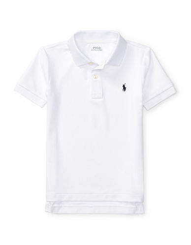 Ralph Lauren Childrenswear Stretch Jersey Polo-WHITE-2