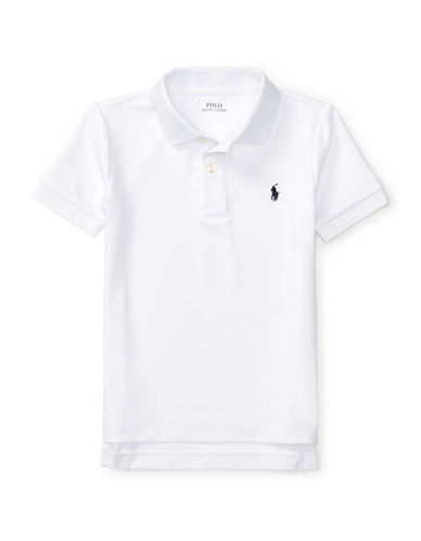 Ralph Lauren Childrenswear Stretch Jersey Polo-WHITE-6