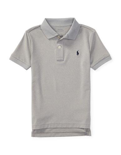 Ralph Lauren Childrenswear Stretch Jersey Polo-GREY-5