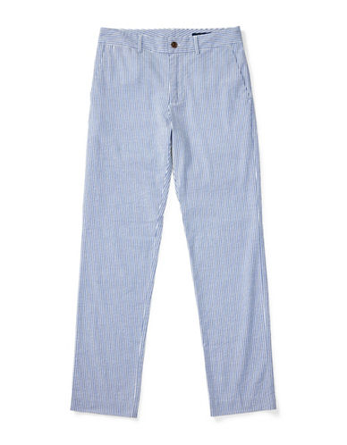 Ralph Lauren Childrenswear Seersucker Stretch Slim-Fit Pants-BLUE-18