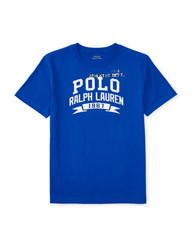 Ralph Lauren Childrenswear Vintage Printed Graphic T-Shirt-BLUE-Small 88933869_BLUE_Small